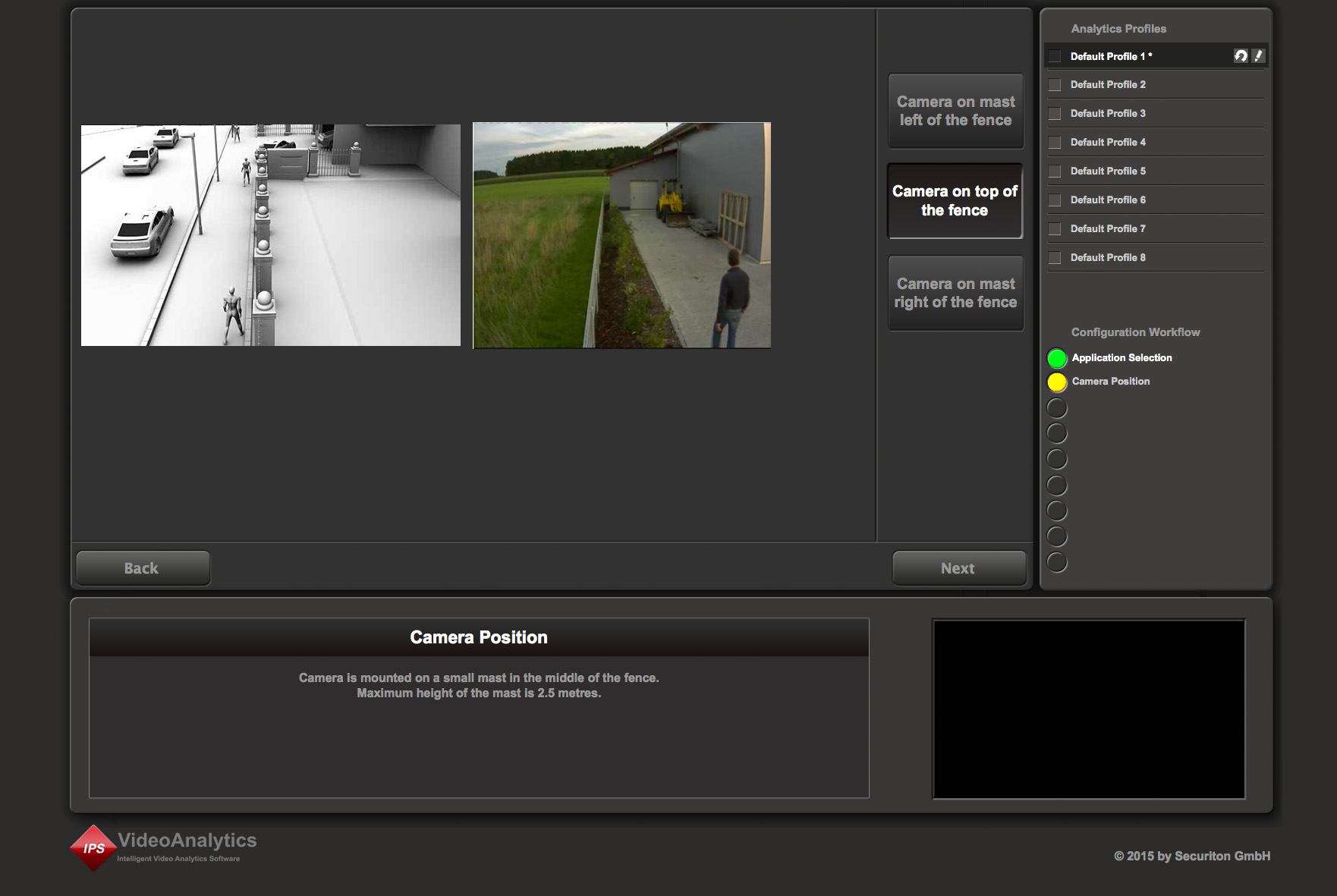 Easy configuration of IPS VideoAnalytics with intuitive web tools