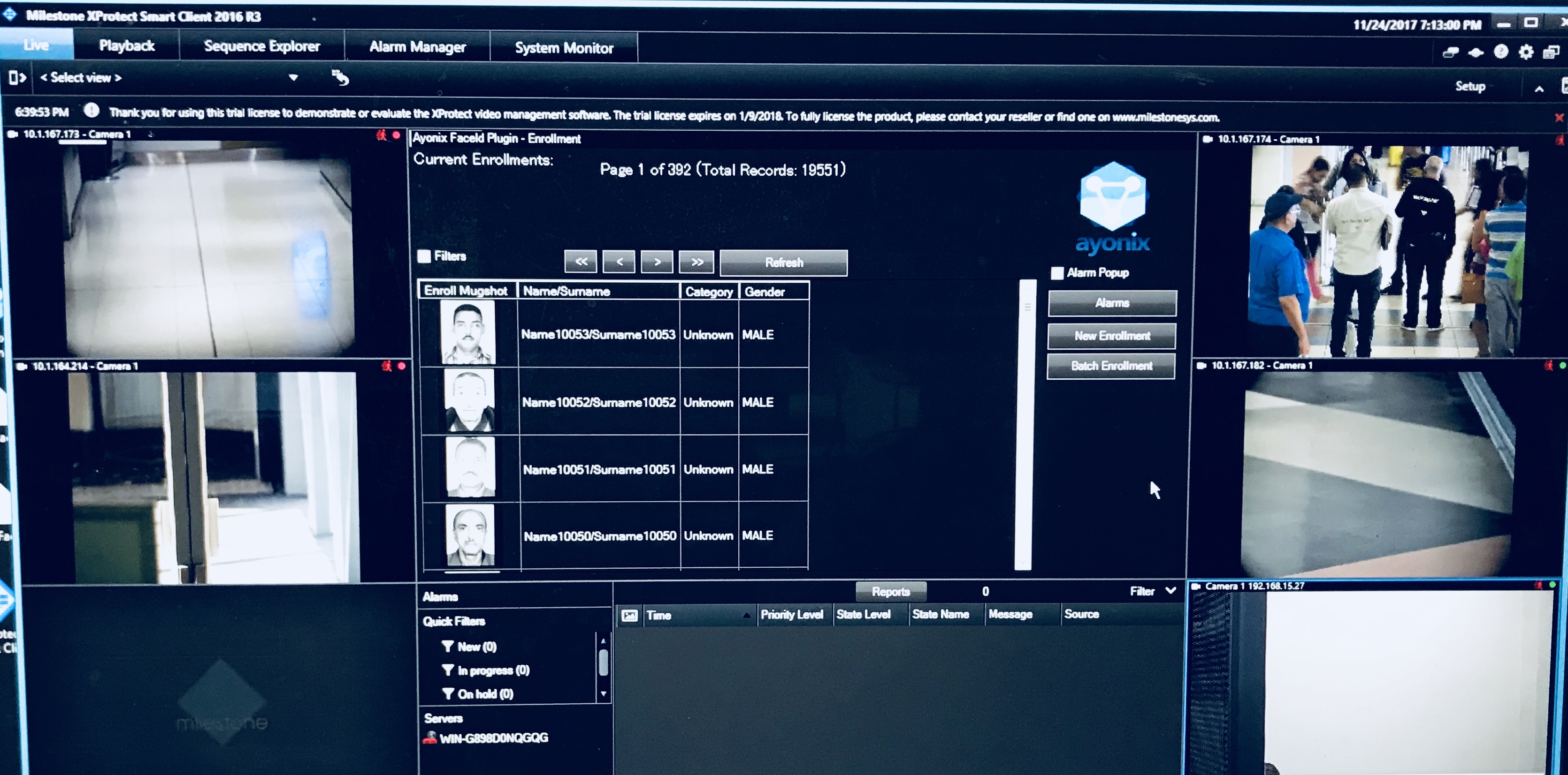 Face Recognition in the XProtect® Smart Client Main Window