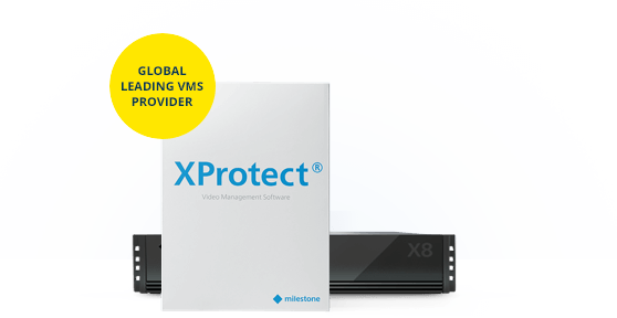 Xprotect X8 plus global leading VMS banner
