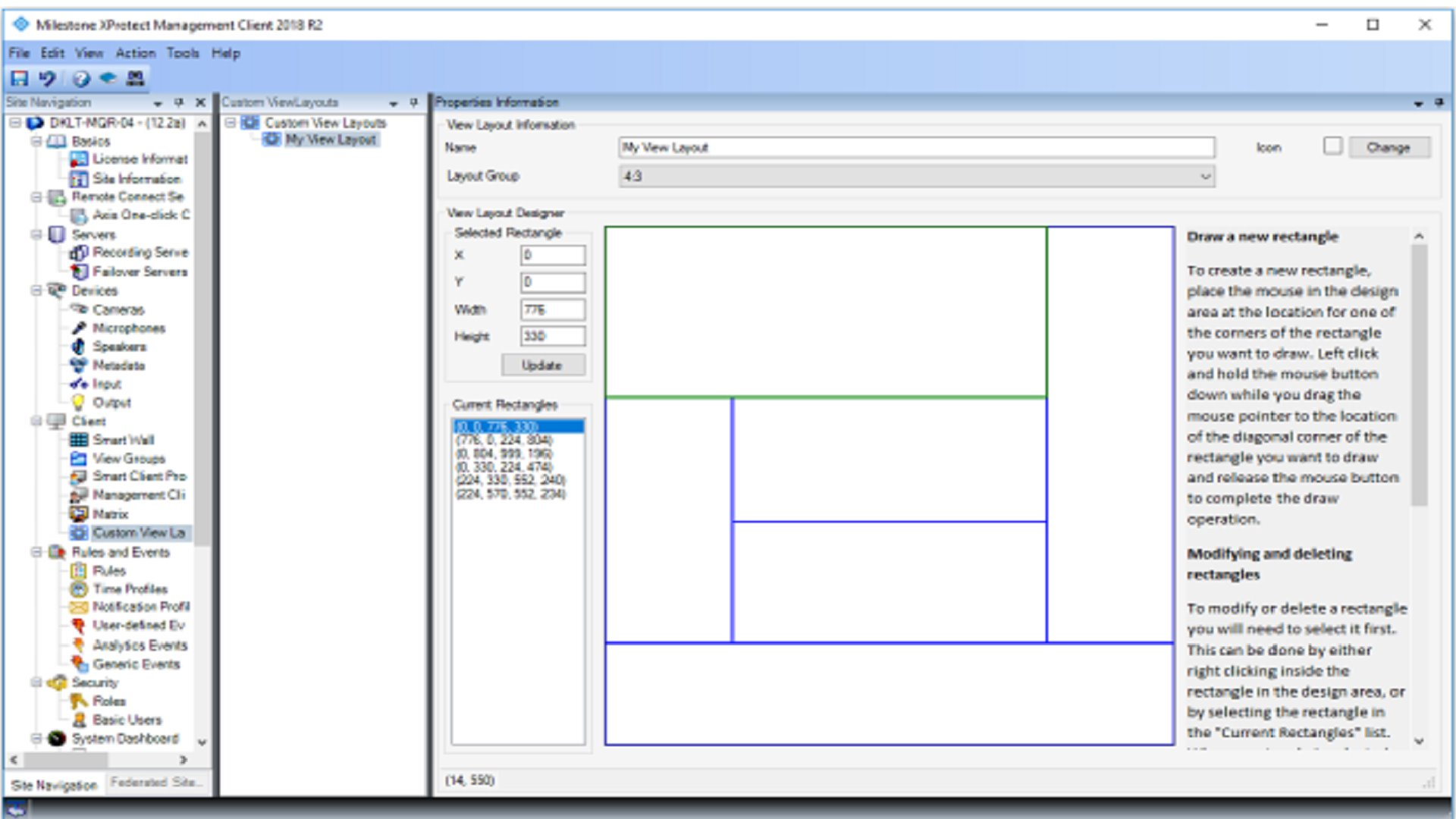 XProtect Custom View Layout Builder