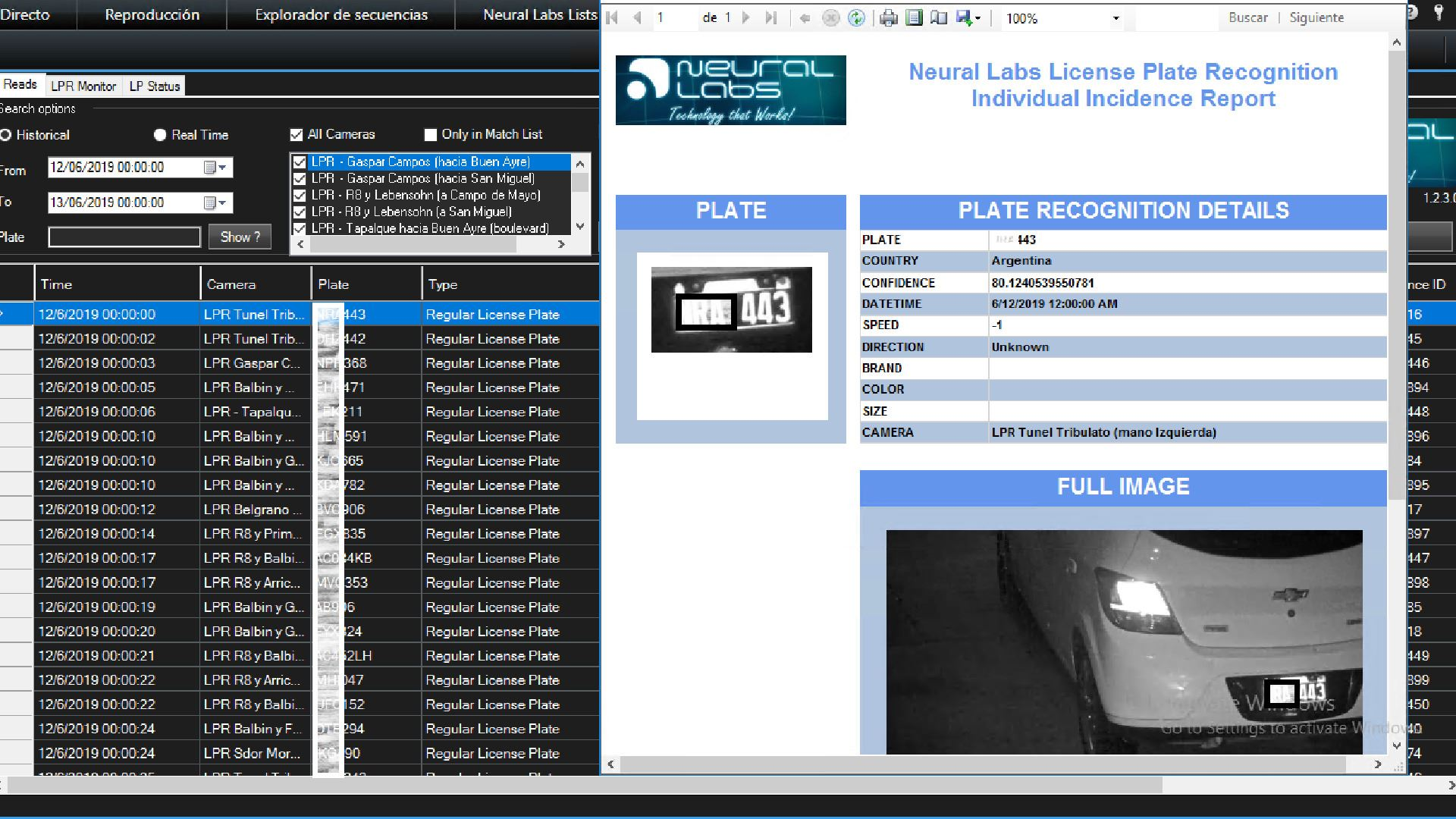 NEURAL SERVER Vehicle recognition platform based on LPR/ANPR