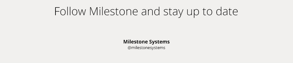 Milestone Systems CARE on social media
